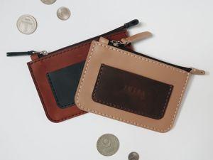 Вместительный мини-кошелек из кожи: технология сборки. Ярмарка Мастеров - ручная работа, handmade.