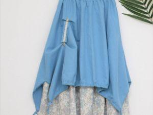 Новинка. Длинная льняная юбка в стиле бохо. Ярмарка Мастеров - ручная работа, handmade.