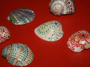 Декорирование ракушек с помощью росписи. Ярмарка Мастеров - ручная работа, handmade.