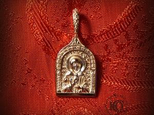 Образок святой блаженной Матроны Московской, золото. Ярмарка Мастеров - ручная работа, handmade.