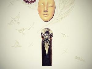 Nevermore. Колье по мотивам Эдгара По. Ярмарка Мастеров - ручная работа, handmade.