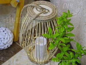 Делаем декоративный фонарь из бамбуковых палочек. Ярмарка Мастеров - ручная работа, handmade.