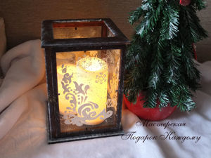 DIY Candle Holder of Photo Frames. Livemaster - handmade