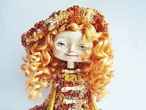 Сувенирная кукла. Клеим волосы.. Ярмарка Мастеров - ручная работа, handmade.