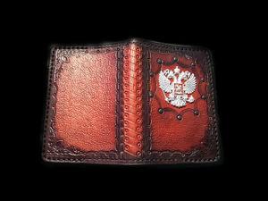 Обложка на паспорт ручной работы. Ярмарка Мастеров - ручная работа, handmade.