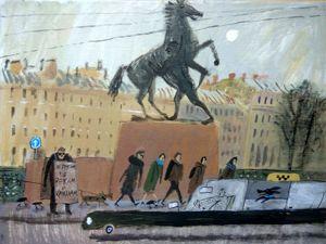 Типичный Питер: художница Алиса Юфа остроумно передает атмосферу северной столицы в своих душевных рисунках. Ярмарка Мастеров - ручная работа, handmade.