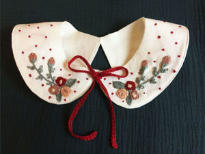 Вышивка на воротнике блузки для начинающих. Ярмарка Мастеров - ручная работа, handmade.