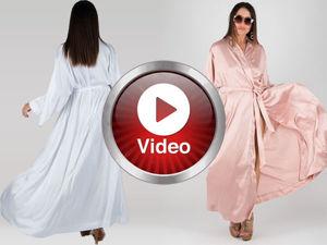 Видио, длинный и  сексуальный халат из сатина. Ярмарка Мастеров - ручная работа, handmade.