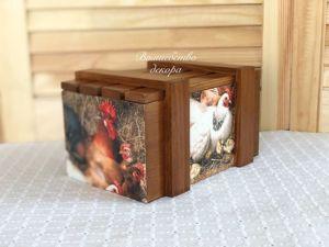 Ящичек  «Птичий двор»  для Екатерины. Ярмарка Мастеров - ручная работа, handmade.