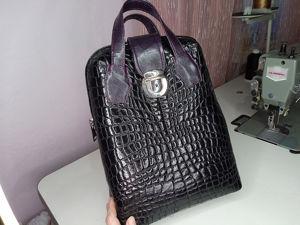 Создаем стеганую сумочку из  «кожи крокодила». Ярмарка Мастеров - ручная работа, handmade.