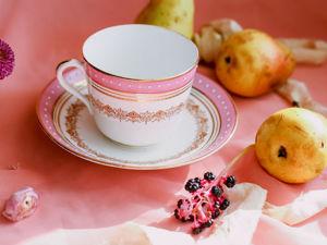 Антикварная фарфоровая большая чайная пара для завтрака Англия. Ярмарка Мастеров - ручная работа, handmade.