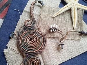 """Ваяем """"Морского удильщика"""" — большое колье в технике wire wrap. Ярмарка Мастеров - ручная работа, handmade."""