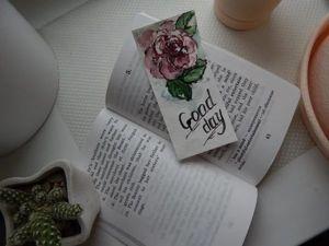 Делаем простую и симпатичную закладку с розой. Акварель. Ярмарка Мастеров - ручная работа, handmade.
