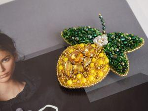 Видео броши цветущий лимон. Ярмарка Мастеров - ручная работа, handmade.