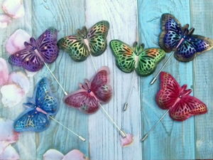 АКЦИЯ ДНЯ !!!!!! Бабочки из кожи за 300 и 250 рублей!!!. Ярмарка Мастеров - ручная работа, handmade.