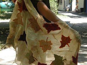 """Нуно-палантин """"Осенний сон"""". Ярмарка Мастеров - ручная работа, handmade."""