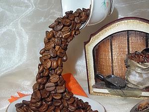 Топиарий кофейный. Человек невидимка решил кофейку испить.. Ярмарка Мастеров - ручная работа, handmade.