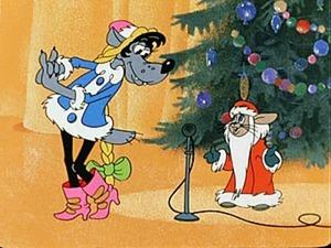 """Заяц из """"Ну, погоди!"""" в костюме Деда Мороза. Ярмарка Мастеров - ручная работа, handmade."""