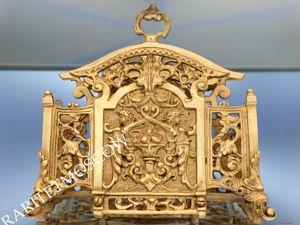 Антикварная салфетница подставка бронза латунь Франция 4. Ярмарка Мастеров - ручная работа, handmade.