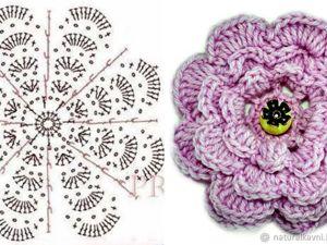Видео мастер-класс: как связать простой цветок крючком. Ярмарка Мастеров - ручная работа, handmade.