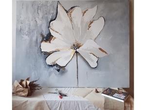 Белый цветок. Ярмарка Мастеров - ручная работа, handmade.