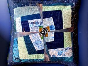 Крейзи-подушка для покрывала  «Туман на озере». Ярмарка Мастеров - ручная работа, handmade.