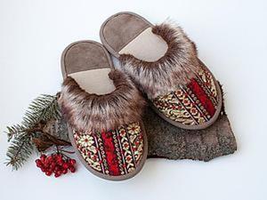 Шьем уютные домашние тапочки в русском стиле «Сударушка». Ярмарка Мастеров - ручная работа, handmade.