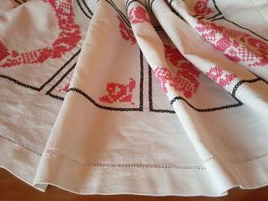 Обновление ассортимента: большие винтажные скатерти в магазине!. Ярмарка Мастеров - ручная работа, handmade.