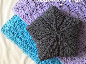 Подушка-Звезда из Alize Puffy. Ярмарка Мастеров - ручная работа, handmade.