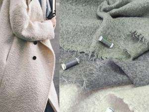 Брендовая пальтовая ткань из мохера и шерсти. Ярмарка Мастеров - ручная работа, handmade.