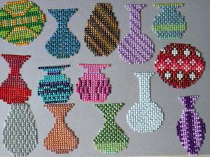 Мастер-класс «Ваза из алмазной мозаики для открытки». Ярмарка Мастеров - ручная работа, handmade.