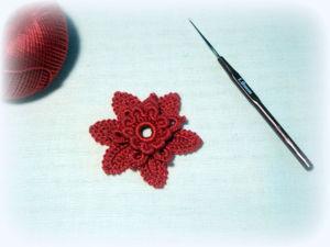 «Аленький цветочек». Вяжем цветочек крючком. Ярмарка Мастеров - ручная работа, handmade.