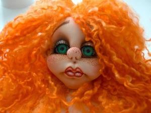 Пришиваем кукле волосы из натуральной шерсти. Ярмарка Мастеров - ручная работа, handmade.