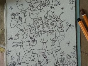 Рисую новую открытку. Ярмарка Мастеров - ручная работа, handmade.