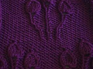 Вяжем спицами узор «Букет из листьев». Ярмарка Мастеров - ручная работа, handmade.
