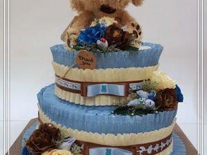 Как сделать торт из подгузников. Ярмарка Мастеров - ручная работа, handmade.