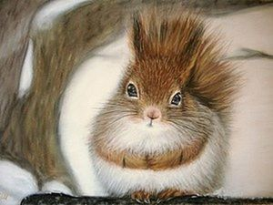 A Simple DIY Project: Drawing a Squirrel with Pastels. Livemaster - handmade