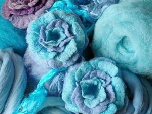 Видео о валянии цветов из шерсти. Ярмарка Мастеров - ручная работа, handmade.