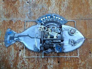 Рыбы  через призму техно-арта. Ярмарка Мастеров - ручная работа, handmade.