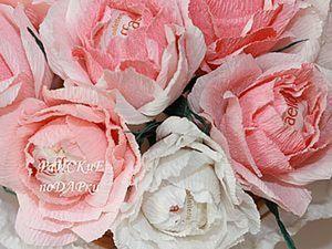 Мастер-класс Роза из гофробумаги. Ярмарка Мастеров - ручная работа, handmade.