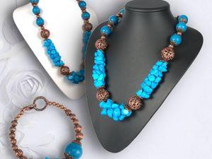 Создаем колье и браслет из турквенита. Ярмарка Мастеров - ручная работа, handmade.