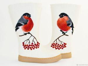 Валяные ботинки за коллекцию. Конкурс коллекций NewVoilok. Ярмарка Мастеров - ручная работа, handmade.