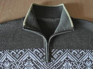 Как вшить молнию в свитер с воротником-стойкой. Ярмарка Мастеров - ручная работа, handmade.