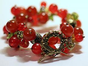 """Создаем браслет """"Красная смородина"""". Ярмарка Мастеров - ручная работа, handmade."""