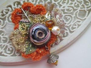 Аукцион на серебряную брошь Теплая осень 3 с нуля. Ярмарка Мастеров - ручная работа, handmade.