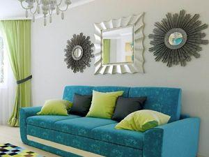Сочетание зеленого с голубым. Ярмарка Мастеров - ручная работа, handmade.