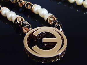 Женское золотое колье с жемчугом и эмалью. Ярмарка Мастеров - ручная работа, handmade.
