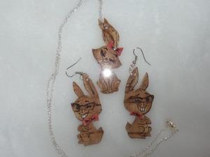 Видео мастер-класс: сережки «Пасхальные кролики» из бересты. Ярмарка Мастеров - ручная работа, handmade.