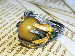 Скидка на кольцо с опалом!. Ярмарка Мастеров - ручная работа, handmade.