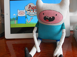 Текстильный мальчик Финн, главный герой мультфильма «Время приключений». Ярмарка Мастеров - ручная работа, handmade.